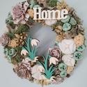 Tavaszi ajtódísz, kopogtató hóvirág, Dekoráció, Otthon, lakberendezés, Ajtódísz, kopogtató, Koszorú, Virágkötés, 20 cm-es alapra készült tavaszi ajtódísz. Gazdagon díszítettem száraz virágokkal, termésekkel. Sajá..., Meska