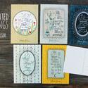 ILLUSZTRÁCIÓS képeslapok, Otthon & lakás, Naptár, képeslap, album, Képzőművészet, Képeslap, levélpapír, Illusztráció, 5 darab illusztrációs képeslap idézetekkel - méret: 10,5x15 cm - 300 g-os papír, Meska