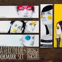 AKVARELL könyvjelző szett, Otthon & lakás, Naptár, képeslap, album, Könyvjelző, Képzőművészet, Grafika, 5 darab akvarelles könyvjelző - méret: 18.5x5.3 cm - 300 g-os papír  Budapesten átvehető személyesen..., Meska