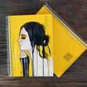 Akvarelles füzet, Képzőművészet, Naptár, képeslap, album, Illusztráció, Jegyzetfüzet, napló, Akvarell illusztrációs nyomdában készült füzet - mérete: A5 (14.8x21.0 cm) - 100 lapos - spir..., Meska