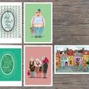 IDÉZETES illusztrációk, Otthon & lakás, Képzőművészet, Illusztráció, Lakberendezés, 5 darab digitális print idézetes, biciklis és anyókás illusztrációkkal ideális gyerekszobába dekorác..., Meska