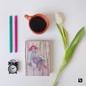 Hintás határidőnapló, Képzőművészet, Naptár, képeslap, album, Illusztráció, Jegyzetfüzet, napló, Hintás illusztrációs nyomdában készült határidőnapló  - a napló öröknaptárral készült..., Meska