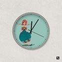 TEAtündér falióra, Képzőművészet, Otthon, lakberendezés, Illusztráció, Falióra, óra, TEAtündér - illusztrációs falióra - átmérője 22cm, Meska