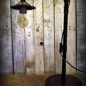 """""""Steampunk-industrial"""" olvasó lámpa- """"Kovácsolt vas jellegű búra"""", Otthon, lakberendezés, Lámpa, Fali-, mennyezeti lámpa, Hangulatlámpa, Újrahasznosított alapanyagból készült termékek, Ami a műhelyben megtalálható... Hamisítatlan újrahasznosítás egyedi és utánozhatatlan hangulatú """"st..., Meska"""