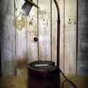 """""""Steampunk-industrial"""" olvasó lámpa- """"Szivattyú ház"""", Otthon, lakberendezés, Lámpa, Fali-, mennyezeti lámpa, Hangulatlámpa, Ami a műhelyben megtalálható... Hamisítatlan újrahasznosítás egyedi és utánozhatatlan hangulatú """"ste..., Meska"""