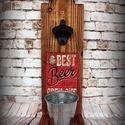 """Fali sör nyitó """" Beer is an open"""", Férfiaknak, Sör, bor, pálinka, Nosztalgikus vintage hangulat pasiknak! Erre a sörnyitó alkalmatosságra minden haverod felfigyel maj..., Meska"""