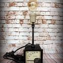 """""""Steampunk-industrial"""" asztali lámpa- """"Amper mérő"""", Otthon, lakberendezés, Lámpa, Fali-, mennyezeti lámpa, Hangulatlámpa, Újrahasznosított alapanyagból készült termékek, Ami a műhelyben megtalálható... Hamisítatlan újrahasznosítás egyedi és utánozhatatlan hangulatú """"st..., Meska"""