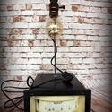 """""""Steampunk-industrial"""" asztali lámpa- """"Nagy mérőóra"""", Otthon, lakberendezés, Lámpa, Fali-, mennyezeti lámpa, Hangulatlámpa, Újrahasznosított alapanyagból készült termékek, Ami a műhelyben megtalálható... Hamisítatlan újrahasznosítás egyedi és utánozhatatlan hangulatú """"st..., Meska"""