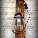 """""""Steampunk-industrial"""" hangulat lámpa- """"Fali kar, befőttes üveggel"""", Otthon, lakberendezés, Lámpa, Fali-, mennyezeti lámpa, Hangulatlámpa, Újrahasznosított alapanyagból készült termékek, Ami a műhelyben megtalálható... Hamisítatlan újrahasznosítás egyedi és utánozhatatlan hangulatú """"st..., Meska"""