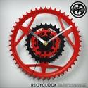 recyclock CWC-024 - falióra újrahasznosított kerékpár alkatrészből, Férfiaknak, Otthon, lakberendezés, Falióra, óra, Bringás kiegészítők, Egyedi, kerékpár alkatrészekből készített falióra.  A CWC sorozat órái elsősorban a kerék..., Meska