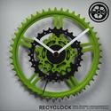 recyclock CWC-025 - falióra újrahasznosított kerékpár alkatrészből, Férfiaknak, Otthon, lakberendezés, Falióra, óra, Bringás kiegészítők, Egyedi, kerékpár alkatrészekből készített falióra.  A CWC sorozat órái elsősorban a kerék..., Meska