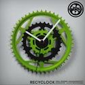 recyclock CWC-026 - falióra újrahasznosított kerékpár alkatrészből, Férfiaknak, Otthon, lakberendezés, Falióra, óra, Bringás kiegészítők, Egyedi, kerékpár alkatrészekből készített falióra.  A CWC sorozat órái elsősorban a kerék..., Meska