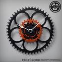recyclock CWB-042 - falióra újrahasznosított kerékpár alkatrészből, Férfiaknak, Otthon, lakberendezés, Falióra, óra, Bringás kiegészítők, Egyedi, kerékpár alkatrészekből készített falióra.  A CWB sorozat órái elsősorban a kerék..., Meska