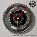 recyclock CWS-053 - falióra újrahasznosított kerékpár alkatrészből, Otthon, lakberendezés, Ékszer, Falióra, óra, Egyedi, kerékpár alkatrészekből készített falióra.  A CWS sorozat órái elsősorban a kerék..., Meska