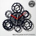 recyclock CAS-105- falióra újrahasznosított kerékpár alkatrészből, Férfiaknak, Otthon, lakberendezés, Falióra, óra, Bringás kiegészítők, Egyedi, kerékpár alkatrészekből készített falióra.  A CS7 sorozat órái elsősorban a kerék..., Meska