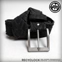 recyBELT-003 öv újrahasznosított kerékpár külsőből, Férfiaknak, Bringás kiegészítők, Öv, övcsat, Kerékpár külső gumiból készült öv. A használt kerékpárgumi többszöri gondos mosás utá..., Meska