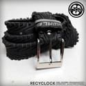 recyBELT-004 öv újrahasznosított kerékpár külsőből, Férfiaknak, Bringás kiegészítők, Öv, övcsat, Kerékpár külső gumiból készült öv. A használt kerékpárgumi többszöri gondos mosás utá..., Meska