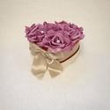 Szív rózsabox, Szerelmeseknek, Dekoráció, Esküvő, Csokor, Csodás örök virágbox a kedvesednek, anyukádnak, barátodnak. Szerezz neki meglepetést Valentin napkor..., Meska