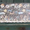 Tengerész, fali kulcstartó, kalózoknak, fiatal matrózoknak, vén tengeri medvéknek... :-), Férfiaknak, Otthon, lakberendezés, Mindenmás, Kulcstartó, Decoupage, transzfer és szalvétatechnika, Festett tárgyak, Ez a fali kulcstartó vízimádóknak készült.  :-) Tóparti nyaralónak, hétvégi házaknak, folyó mellett..., Meska