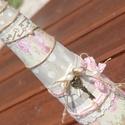 Vintage üveg, álmodozóknak! :-) , Dekoráció, Esküvő, Otthon, lakberendezés, Nászajándék, Decoupage, szalvétatechnika, Festett tárgyak, Ezt az üveget használhatod dekorációnak az otthonodban vagy vázának egy szál virághoz de tölthetsz ..., Meska