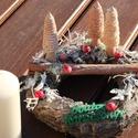 Asztaldísz, az erdő színeivel. :-), Dekoráció, Ünnepi dekoráció, Karácsonyi, adventi apróságok, Karácsonyi dekoráció, Koszorú, Virágkötés, Karácsonyi asztaldísz, természet-közeli otthonokba, letisztult színekkel. Díszítsd vele a nappalit ..., Meska