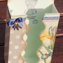 Papírzsebkendő tartó, liliom mintával. :-) , Otthon, lakberendezés, Tárolóeszköz, Papírzsebkendő tartó, mely szép kiegészítője lehet otthonodnak, vagy valakinek egy szép ajá..., Meska