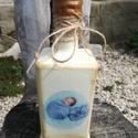 Italos üveg az apukáknak. :-), Férfiaknak, Baba-mama-gyerek, Hagyományőrző ajándékok, Sör, bor, pálinka, Decoupage, transzfer és szalvétatechnika, Festett tárgyak, Festett üveg, melyet egy újdonsült apuka tejfakasztó bulijára készítettem. :-) Kérheted bármilyen m..., Meska