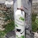 Transzferált italos üveg, egyedi felirattal. :-), Férfiaknak, Sör, bor, pálinka, Decoupage, transzfer és szalvétatechnika, Festett tárgyak, Festett üveg, melyet egy sikeres vizsgázónak készítettem. :-) Kérheted bármilyen mintával, feliratt..., Meska