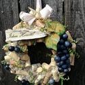 Szüreti ajtódísz, szőlősgazdáknak. :-), Dekoráció, Otthon, lakberendezés, Ajtódísz, kopogtató, Virágkötés, Ajtódísz, melyet azoknak ajánlok, akik szeretik a szőlők-borok illatát, zamatát. :-) Asztaldíszként..., Meska
