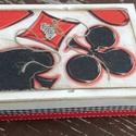 Szerencselovagoknak.... :-), Férfiaknak, Játék, Társasjáték, Hagyományőrző ajándékok, Ez a kártyatartó játékos kedvű hölgyeknek vagy uraknak készült. :-) 2 pakli francia kártya,..., Meska