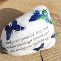 Feliratos kő, idézetekkel. :-), Dekoráció, Esküvő, Otthon, lakberendezés, Nászajándék, Decoupage, transzfer és szalvétatechnika, Festett tárgyak, Nagyméretű köveket festettem, dekopázsoltam és lakkoztam. Mintát és feliratot tettem rá. Kérheted m..., Meska