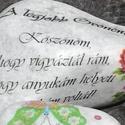Óvónéninek köszönő kő. :-), Mindenmás, Decoupage, transzfer és szalvétatechnika, Festett tárgyak, Követ díszítettem és feliratot tettem rá.  Ajándékozz meg vele egy szeretett Óvónénit :-) Ha saját ..., Meska