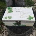 """""""Angyalszárny"""" - Feliratos fa dobozka :-), Ékszer, Esküvő, Férfiaknak, Baba-mama-gyerek, Decoupage, transzfer és szalvétatechnika, Festett tárgyak, Fa dobozka, melyben tarthatsz ékszereket, apróságokat, szép emlékeket... :-) A dobozt festettem, fe..., Meska"""