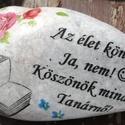 Feliratos kő, személyes motívumokkal, transzferálva. :-), Dekoráció, Esküvő, Baba-mama-gyerek, Nászajándék, Kedves kövek mintával és felirattal, ahogyan Te szeretnéd. :-)  Enyhén nedves ruhával tisztítható. :..., Meska