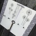 Fali kulcstartó pitypangokkal.  :-), Otthon, lakberendezés, Fali kulcstartó, amelyet  visszafogott, pasztell színekkel készítettem el, így szinte bármilye..., Meska