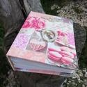 Vintage fotóalbum. :-), Fotóalbum rózsaszínnel és fehérrel. Az albumo...