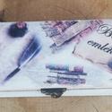 Tolltartó felirattal.   :-), Férfiaknak, Fa tolltartó, mely ballagási ajándéknak tökéletes választás. Ha van  egy diák aki épp most..., Meska
