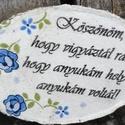 Köszönet az Óvónéninek és a Dadusnak.  :-), Otthon, lakberendezés, Óvónéniknek készült hűtőmágnesek, köszönetképpen odaadó munkájukért. :-) A faszeleteket festettem, f..., Meska