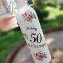 Italos üveg Hölgyeknek, 50. szülinapra. :-), Otthon, lakberendezés, Festett üveg, melyet egy 50 éves Hölgynek ajándékozhatsz, kedvenc italával. :-) Az üveget festettem,..., Meska