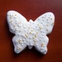 Mézeskalács pillangó - köszönetajándék, Esküvő, Ünnepi dekoráció, Meghívó, ültetőkártya, köszönőajándék, Asztaldísz, Mézeskalácssütés, Apró mézeskalács lepke a lakodalmi vendég számára, mely egy kedves gesztus a jegyespár részéről. ..., Meska