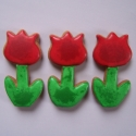Hahó tavasz! (3 db-os), Esküvő, Ünnepi dekoráció, Mézeskalácssütés, Apró színes mézeskalács tulipánok  Ballagási tarisznyába, céges rendezvényre, ajándékkísérőként, ..., Meska