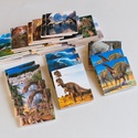 Memóriajáték - dínós, Játék, Baba-mama-gyerek, Készségfejlesztő játék, Társasjáték, Decoupage, szalvétatechnika, 32 db 5*5 cm-es falapokra ragasztott színes papírlap.  Bármely témakörben lehetséges memóriajáték k..., Meska
