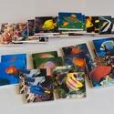 Memóriajáték - halakkal, Játék, Baba-mama-gyerek, Készségfejlesztő játék, Társasjáték, Decoupage, szalvétatechnika, 32 db 5*5 cm-es falapokra ragasztott színes papírlap.  Bármely témakörben lehetséges memóriajáték k..., Meska