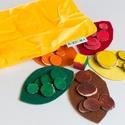 Lapulevél társasjáték, Baba-mama-gyerek, Játék, Fajáték, Társasjáték, Festett tárgyak, Társasjáték a legkisebbeknek!  A társasjáték segítségével játék közben tanulhatók meg a színek.  A ..., Meska