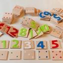 Színes számtan, Baba-mama-gyerek, Játék, Készségfejlesztő játék, Fajáték, Egy játék, amely megtanítja számolni a gyermeket!   Négy színből, 0-tól 10-ig álló számso..., Meska