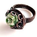 Mohaachát rézgyűrű, Ékszer, Gyűrű, Mohaachát gyűrű, vörösrézből, melyet antikoltam. A gyűrű belső átmérője 17 mm. Kérésre más mértében ..., Meska