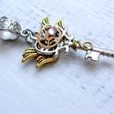 Tempus kulcsa steampunk medál , Ékszer, Medál, Egyedi romantikus steampunk ihletésű ékszer.Valaha valóban működő órából,nem utánagyártott alkatrész..., Meska