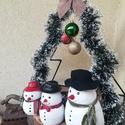 Világító karácsonyfa dekoráció, Karácsony & Mikulás, Karácsonyi dekoráció, Fémmegmunkálás, Saját elképzelés alapján készített, fém, fenyőfa formájú karácsonyi dekoráció. Alkalmas akár az abl..., Meska