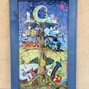 Fafalva (üvegmozaik falikép), Dekoráció, Otthon, lakberendezés, Kép, Átlátszó műanyag (plexi) lapra mozaikoztam színes üvegdarabkákból a képet, amely farostleme..., Meska