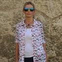 Női ing  - Raspberry (málna), Ruha, divat, cipő, Női ruha, Felsőrész, póló, Varrás, Ez egy stílusos, lezser szabású  női ing. Az anyaga könnyű és szellős  a 100% -os pamutnak köszönhe..., Meska